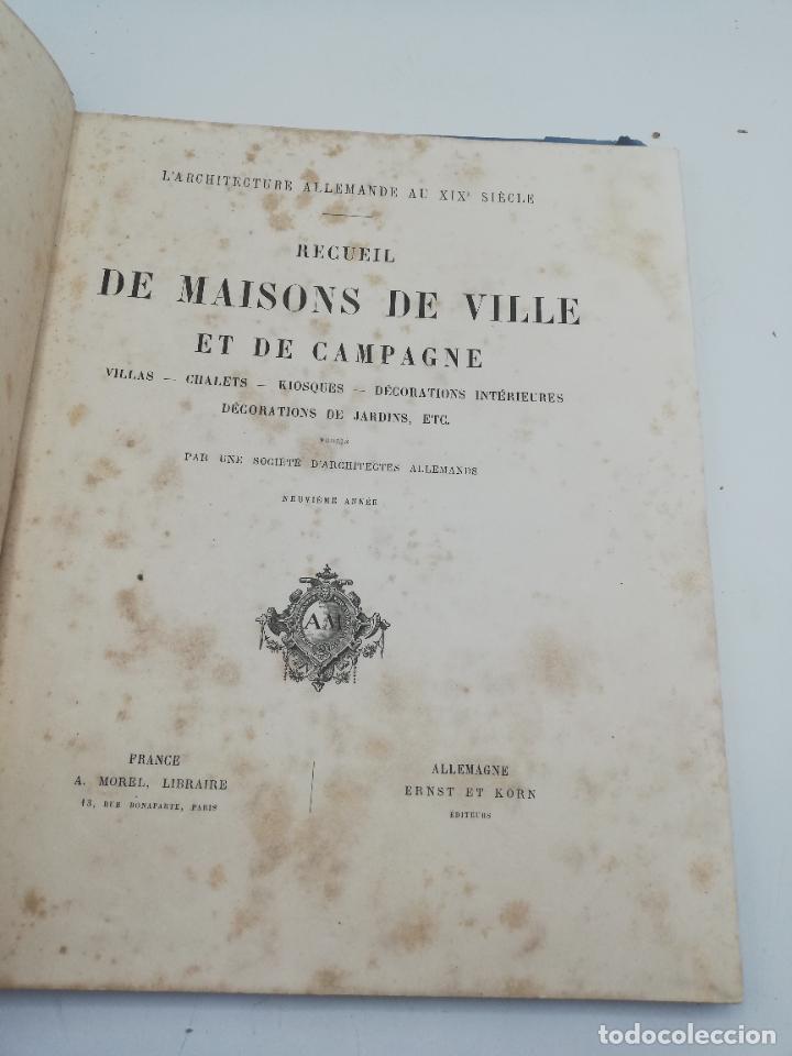 Libros antiguos: L´ARCHITECTURE ALLEMANDE AU XIX SIECLE. RECUELL DE MASIONS DE VILLE ET DE CAMPAGNE. 9 TOMOS.VER.LEER - Foto 321 - 267903714