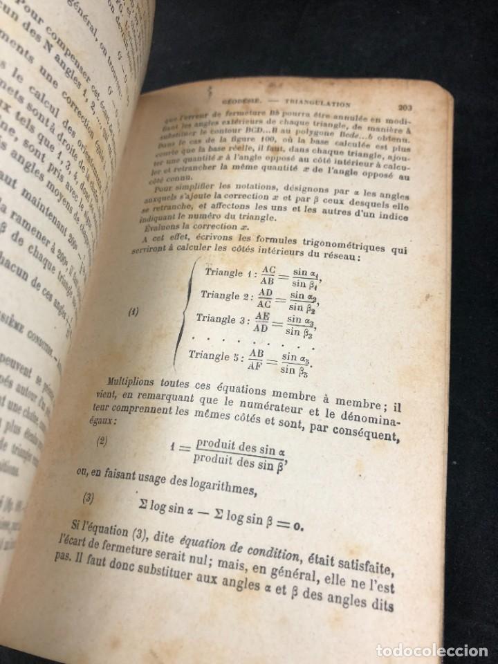 Libros antiguos: Topographie EUGÈNE PREVOT. 1900 Bibliothèque du Conducteur de Travaux Publics. en francés - Foto 4 - 271002548