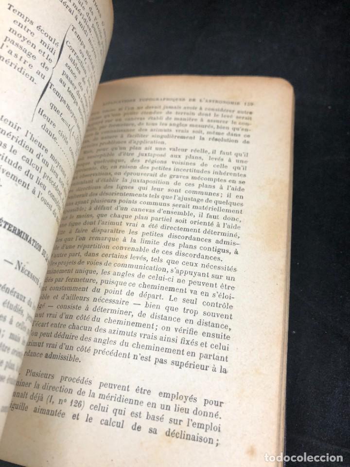 Libros antiguos: Topographie EUGÈNE PREVOT. 1900 Bibliothèque du Conducteur de Travaux Publics. en francés - Foto 6 - 271002548