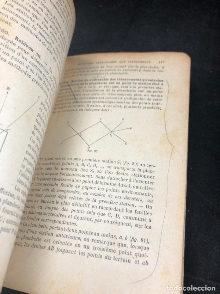 Libros antiguos: Topographie EUGÈNE PREVOT. 1900 Bibliothèque du Conducteur de Travaux Publics. en francés - Foto 8 - 271002548