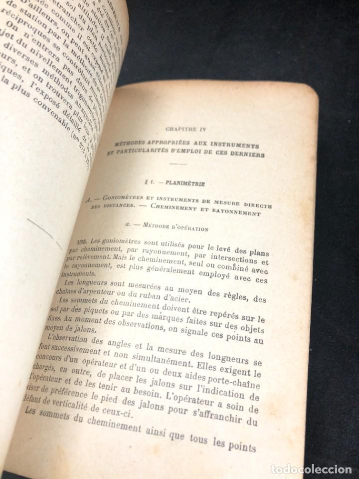 Libros antiguos: Topographie EUGÈNE PREVOT. 1900 Bibliothèque du Conducteur de Travaux Publics. en francés - Foto 9 - 271002548