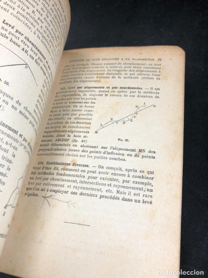 Libros antiguos: Topographie EUGÈNE PREVOT. 1900 Bibliothèque du Conducteur de Travaux Publics. en francés - Foto 10 - 271002548