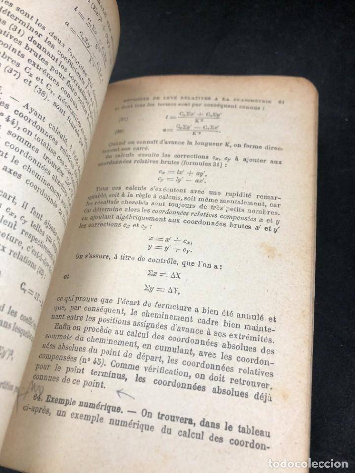 Libros antiguos: Topographie EUGÈNE PREVOT. 1900 Bibliothèque du Conducteur de Travaux Publics. en francés - Foto 11 - 271002548