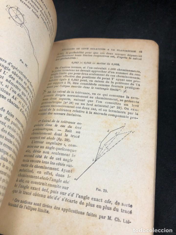 Libros antiguos: Topographie EUGÈNE PREVOT. 1900 Bibliothèque du Conducteur de Travaux Publics. en francés - Foto 12 - 271002548