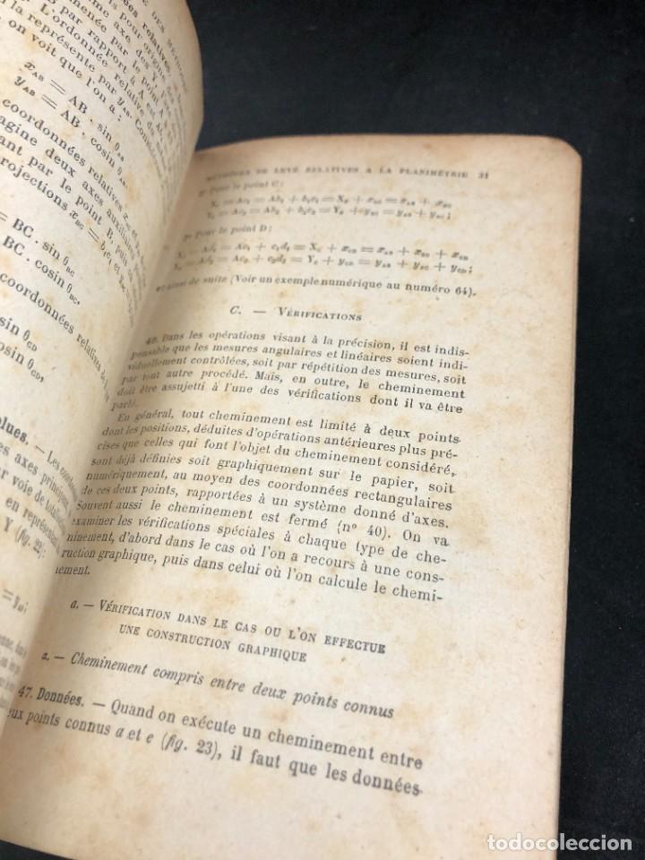 Libros antiguos: Topographie EUGÈNE PREVOT. 1900 Bibliothèque du Conducteur de Travaux Publics. en francés - Foto 13 - 271002548