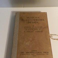 Libros antiguos: MODERN PLASTERWORK DESIGN GEORGE & EDWARD BANKART 1927 PORTFOLIO 100 LÁMINAS ANTIGUAS - ARQUITECTURA. Lote 275036513