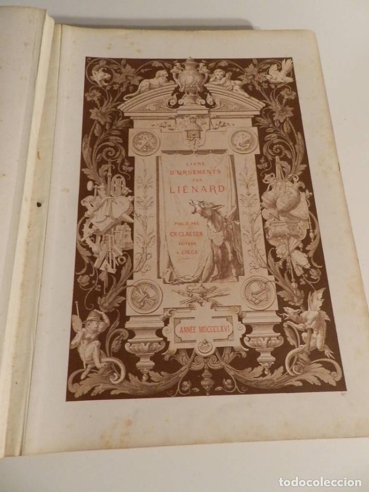 Libros antiguos: LIENARD .SPÉCIMENS DE LA DÉCORATION ET DE LORNEMENTATION AU 19ÈME SIÈCLE 1866 PRIMERA ED LÁMINAS - Foto 8 - 275038038