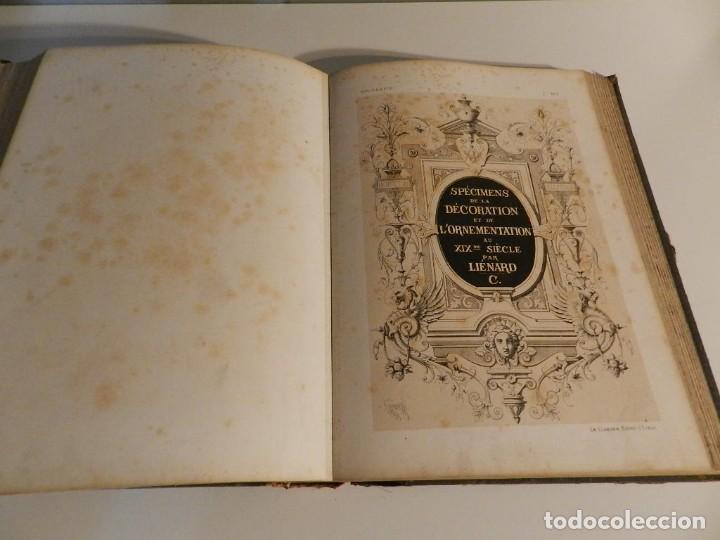 Libros antiguos: LIENARD .SPÉCIMENS DE LA DÉCORATION ET DE LORNEMENTATION AU 19ÈME SIÈCLE 1866 PRIMERA ED LÁMINAS - Foto 16 - 275038038
