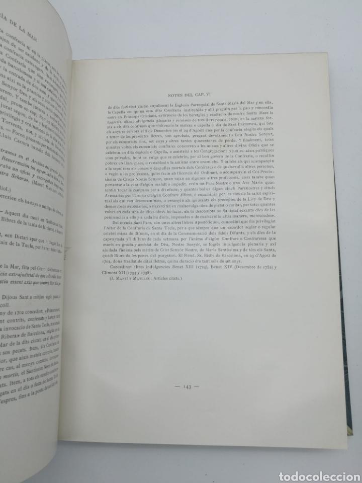 Libros antiguos: Santa Maria del Mar Barcelona monografia històrica 1925 - Foto 4 - 275079073