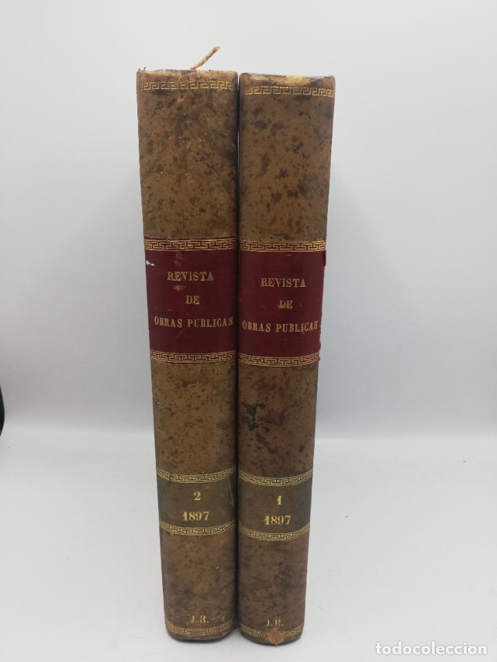 Libros antiguos: REVISTA DE OBRAS PUBLICAS. AÑO XLIV SERIE 7ª PRIMER Y SEGUNDO SEMESTRE. 1897. TOMO I Y II. VER FOTOS - Foto 2 - 275203048