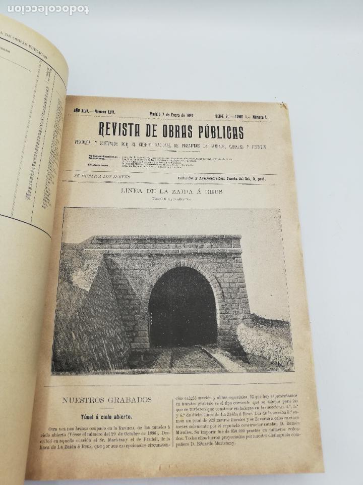 Libros antiguos: REVISTA DE OBRAS PUBLICAS. AÑO XLIV SERIE 7ª PRIMER Y SEGUNDO SEMESTRE. 1897. TOMO I Y II. VER FOTOS - Foto 6 - 275203048