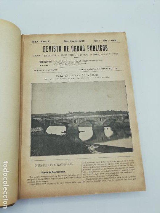 Libros antiguos: REVISTA DE OBRAS PUBLICAS. AÑO XLIV SERIE 7ª PRIMER Y SEGUNDO SEMESTRE. 1897. TOMO I Y II. VER FOTOS - Foto 8 - 275203048
