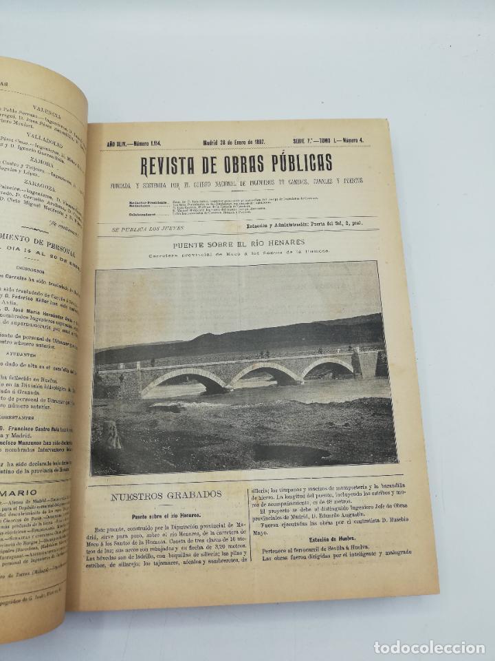 Libros antiguos: REVISTA DE OBRAS PUBLICAS. AÑO XLIV SERIE 7ª PRIMER Y SEGUNDO SEMESTRE. 1897. TOMO I Y II. VER FOTOS - Foto 14 - 275203048