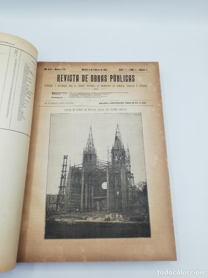 Libros antiguos: REVISTA DE OBRAS PUBLICAS. AÑO XLIV SERIE 7ª PRIMER Y SEGUNDO SEMESTRE. 1897. TOMO I Y II. VER FOTOS - Foto 15 - 275203048