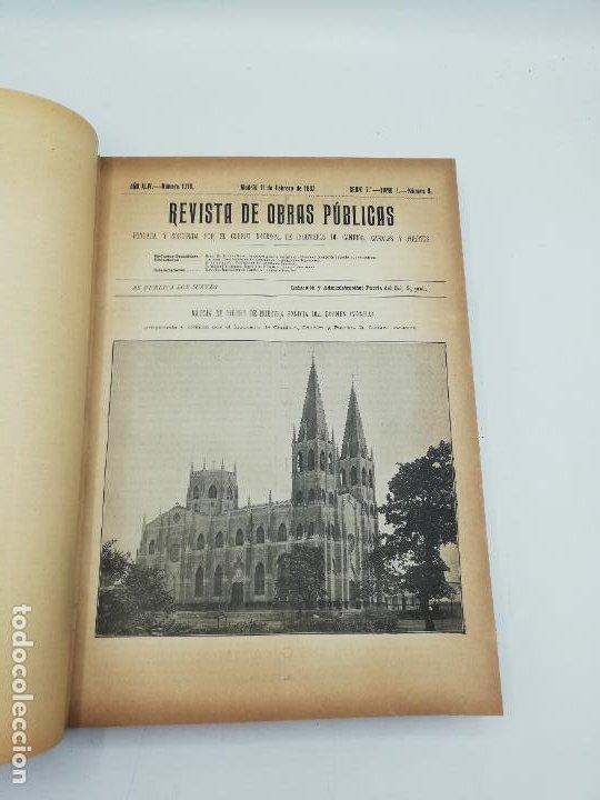 Libros antiguos: REVISTA DE OBRAS PUBLICAS. AÑO XLIV SERIE 7ª PRIMER Y SEGUNDO SEMESTRE. 1897. TOMO I Y II. VER FOTOS - Foto 19 - 275203048
