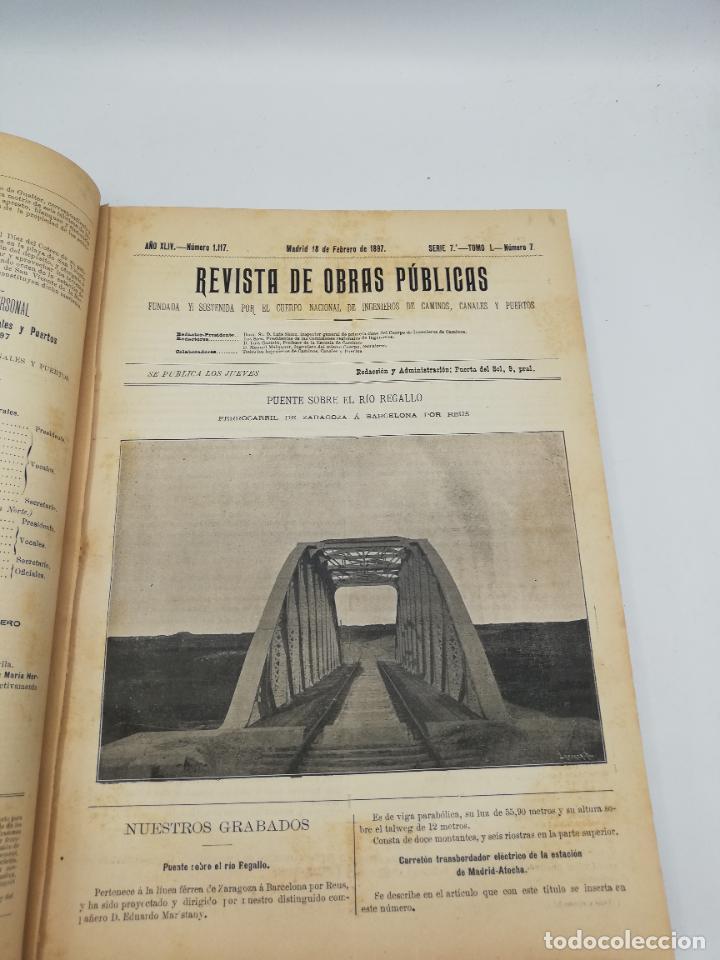 Libros antiguos: REVISTA DE OBRAS PUBLICAS. AÑO XLIV SERIE 7ª PRIMER Y SEGUNDO SEMESTRE. 1897. TOMO I Y II. VER FOTOS - Foto 20 - 275203048