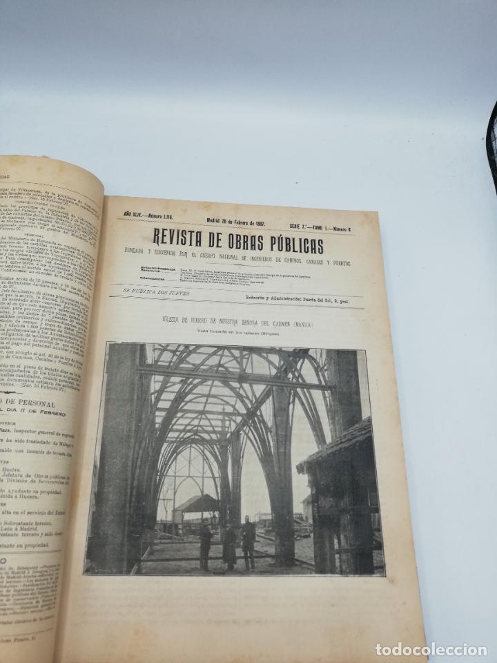 Libros antiguos: REVISTA DE OBRAS PUBLICAS. AÑO XLIV SERIE 7ª PRIMER Y SEGUNDO SEMESTRE. 1897. TOMO I Y II. VER FOTOS - Foto 21 - 275203048