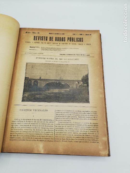 Libros antiguos: REVISTA DE OBRAS PUBLICAS. AÑO XLIV SERIE 7ª PRIMER Y SEGUNDO SEMESTRE. 1897. TOMO I Y II. VER FOTOS - Foto 22 - 275203048