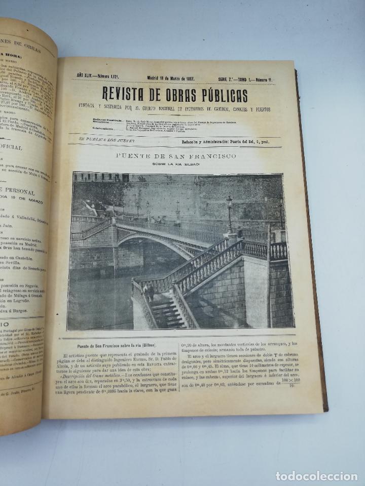 Libros antiguos: REVISTA DE OBRAS PUBLICAS. AÑO XLIV SERIE 7ª PRIMER Y SEGUNDO SEMESTRE. 1897. TOMO I Y II. VER FOTOS - Foto 24 - 275203048