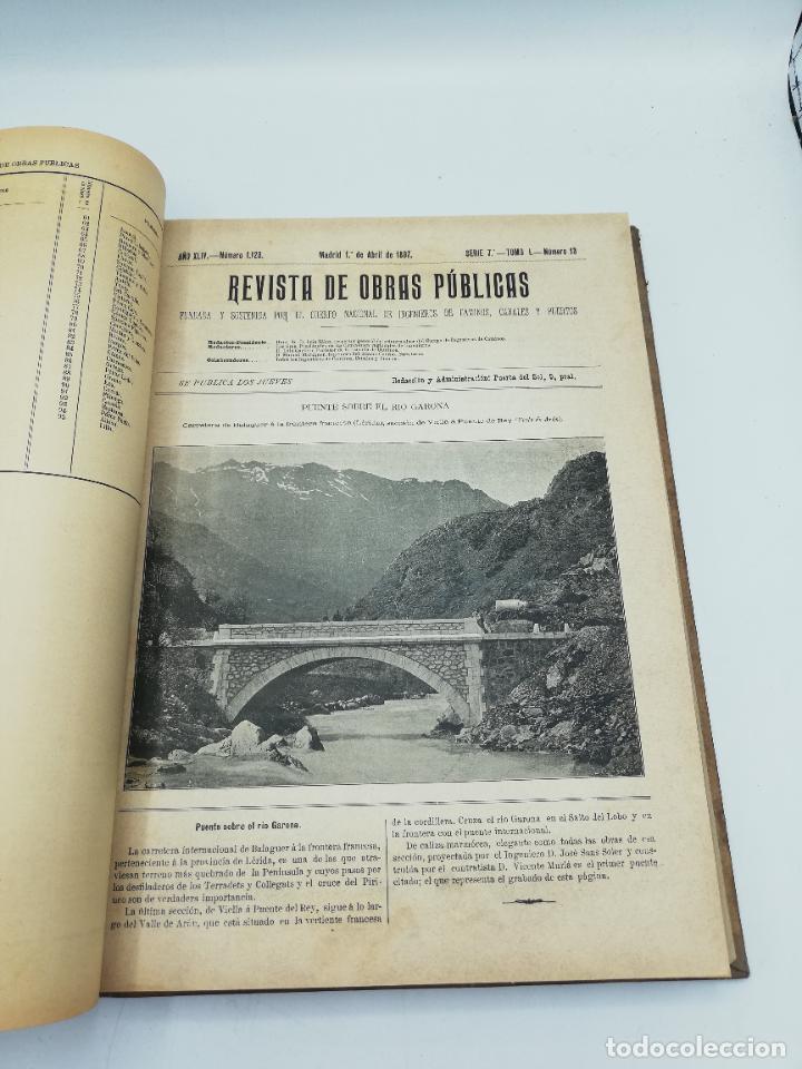 Libros antiguos: REVISTA DE OBRAS PUBLICAS. AÑO XLIV SERIE 7ª PRIMER Y SEGUNDO SEMESTRE. 1897. TOMO I Y II. VER FOTOS - Foto 25 - 275203048