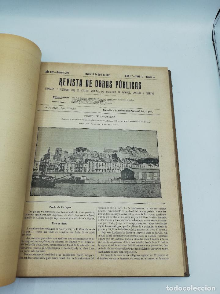 Libros antiguos: REVISTA DE OBRAS PUBLICAS. AÑO XLIV SERIE 7ª PRIMER Y SEGUNDO SEMESTRE. 1897. TOMO I Y II. VER FOTOS - Foto 26 - 275203048