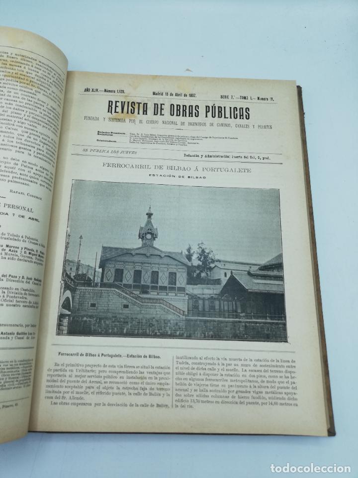 Libros antiguos: REVISTA DE OBRAS PUBLICAS. AÑO XLIV SERIE 7ª PRIMER Y SEGUNDO SEMESTRE. 1897. TOMO I Y II. VER FOTOS - Foto 27 - 275203048