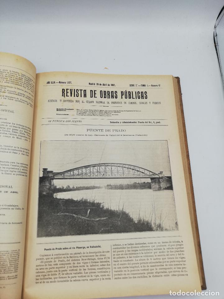 Libros antiguos: REVISTA DE OBRAS PUBLICAS. AÑO XLIV SERIE 7ª PRIMER Y SEGUNDO SEMESTRE. 1897. TOMO I Y II. VER FOTOS - Foto 29 - 275203048