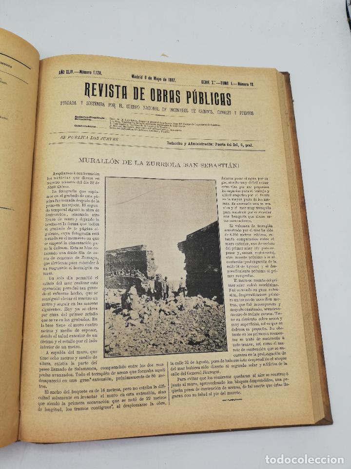Libros antiguos: REVISTA DE OBRAS PUBLICAS. AÑO XLIV SERIE 7ª PRIMER Y SEGUNDO SEMESTRE. 1897. TOMO I Y II. VER FOTOS - Foto 30 - 275203048