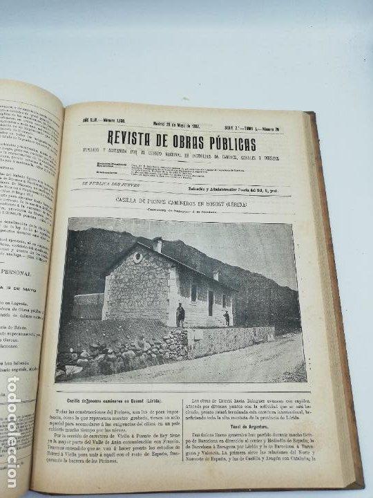 Libros antiguos: REVISTA DE OBRAS PUBLICAS. AÑO XLIV SERIE 7ª PRIMER Y SEGUNDO SEMESTRE. 1897. TOMO I Y II. VER FOTOS - Foto 32 - 275203048