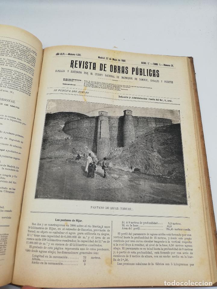Libros antiguos: REVISTA DE OBRAS PUBLICAS. AÑO XLIV SERIE 7ª PRIMER Y SEGUNDO SEMESTRE. 1897. TOMO I Y II. VER FOTOS - Foto 33 - 275203048