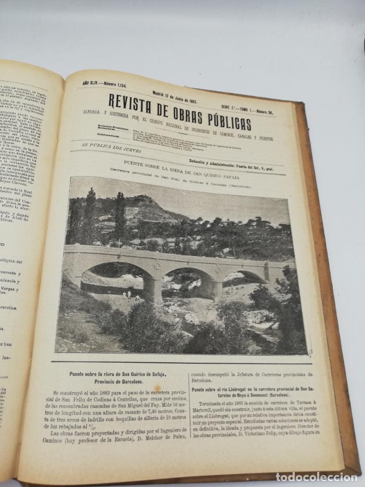 Libros antiguos: REVISTA DE OBRAS PUBLICAS. AÑO XLIV SERIE 7ª PRIMER Y SEGUNDO SEMESTRE. 1897. TOMO I Y II. VER FOTOS - Foto 36 - 275203048