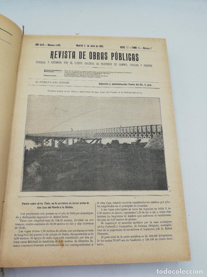 Libros antiguos: REVISTA DE OBRAS PUBLICAS. AÑO XLIV SERIE 7ª PRIMER Y SEGUNDO SEMESTRE. 1897. TOMO I Y II. VER FOTOS - Foto 40 - 275203048