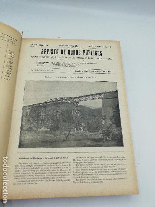 Libros antiguos: REVISTA DE OBRAS PUBLICAS. AÑO XLIV SERIE 7ª PRIMER Y SEGUNDO SEMESTRE. 1897. TOMO I Y II. VER FOTOS - Foto 41 - 275203048