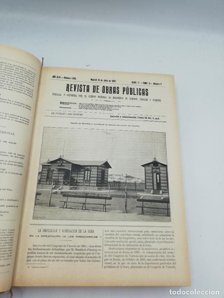 Libros antiguos: REVISTA DE OBRAS PUBLICAS. AÑO XLIV SERIE 7ª PRIMER Y SEGUNDO SEMESTRE. 1897. TOMO I Y II. VER FOTOS - Foto 43 - 275203048