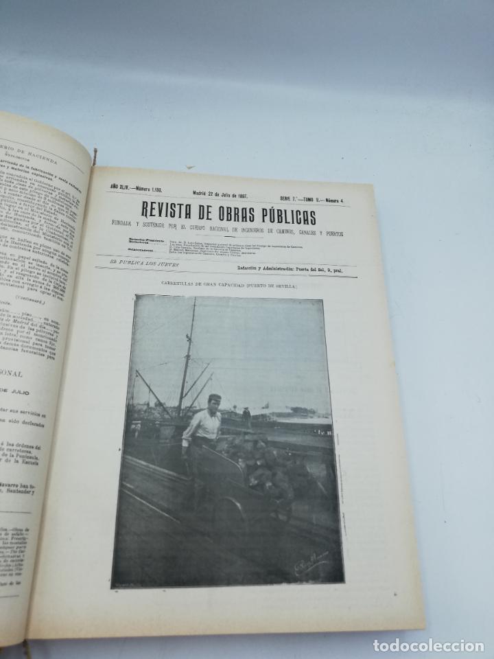 Libros antiguos: REVISTA DE OBRAS PUBLICAS. AÑO XLIV SERIE 7ª PRIMER Y SEGUNDO SEMESTRE. 1897. TOMO I Y II. VER FOTOS - Foto 44 - 275203048