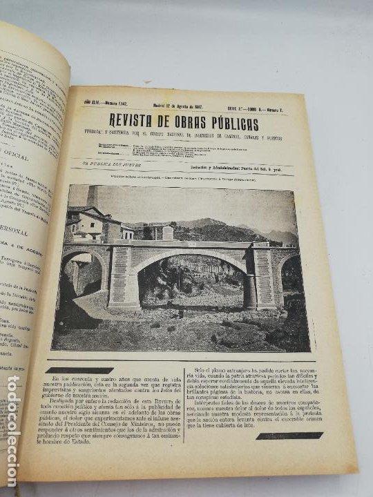 Libros antiguos: REVISTA DE OBRAS PUBLICAS. AÑO XLIV SERIE 7ª PRIMER Y SEGUNDO SEMESTRE. 1897. TOMO I Y II. VER FOTOS - Foto 46 - 275203048