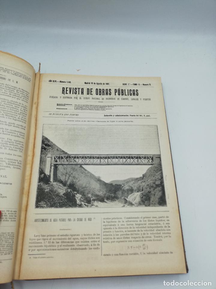 Libros antiguos: REVISTA DE OBRAS PUBLICAS. AÑO XLIV SERIE 7ª PRIMER Y SEGUNDO SEMESTRE. 1897. TOMO I Y II. VER FOTOS - Foto 49 - 275203048
