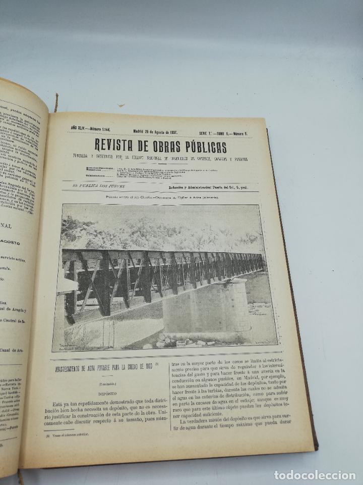 Libros antiguos: REVISTA DE OBRAS PUBLICAS. AÑO XLIV SERIE 7ª PRIMER Y SEGUNDO SEMESTRE. 1897. TOMO I Y II. VER FOTOS - Foto 50 - 275203048