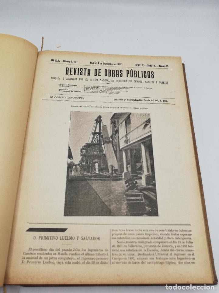 Libros antiguos: REVISTA DE OBRAS PUBLICAS. AÑO XLIV SERIE 7ª PRIMER Y SEGUNDO SEMESTRE. 1897. TOMO I Y II. VER FOTOS - Foto 52 - 275203048