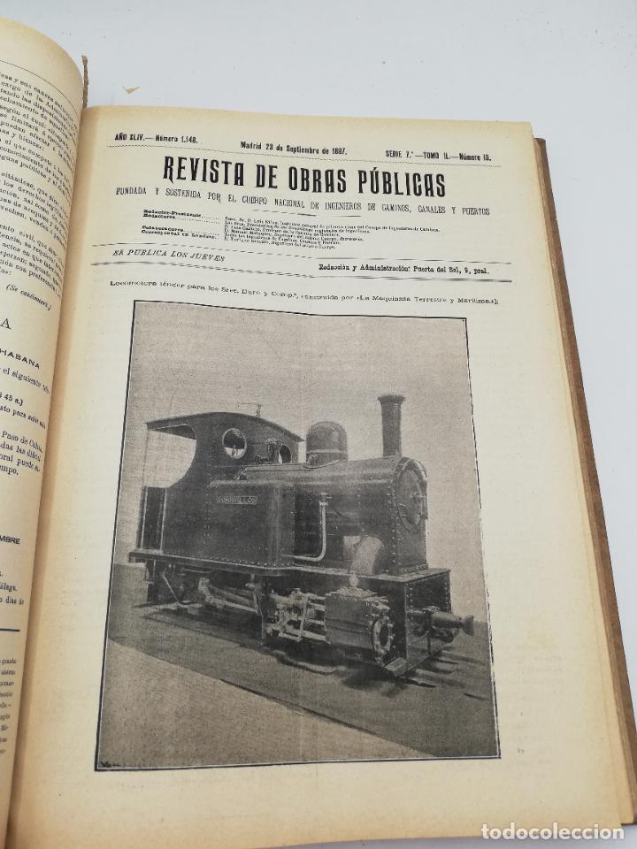 Libros antiguos: REVISTA DE OBRAS PUBLICAS. AÑO XLIV SERIE 7ª PRIMER Y SEGUNDO SEMESTRE. 1897. TOMO I Y II. VER FOTOS - Foto 54 - 275203048