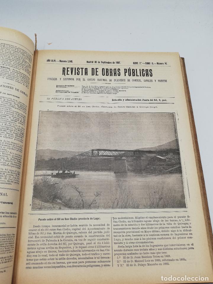 Libros antiguos: REVISTA DE OBRAS PUBLICAS. AÑO XLIV SERIE 7ª PRIMER Y SEGUNDO SEMESTRE. 1897. TOMO I Y II. VER FOTOS - Foto 55 - 275203048