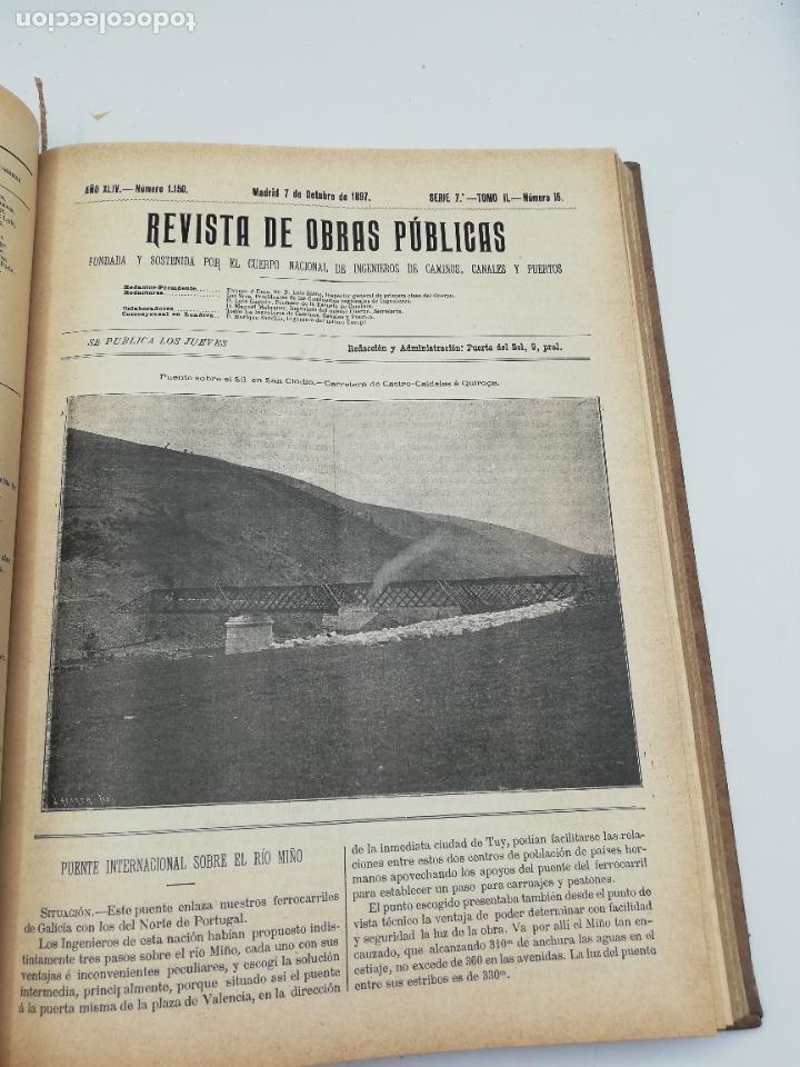 Libros antiguos: REVISTA DE OBRAS PUBLICAS. AÑO XLIV SERIE 7ª PRIMER Y SEGUNDO SEMESTRE. 1897. TOMO I Y II. VER FOTOS - Foto 56 - 275203048