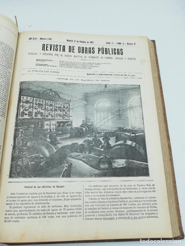 Libros antiguos: REVISTA DE OBRAS PUBLICAS. AÑO XLIV SERIE 7ª PRIMER Y SEGUNDO SEMESTRE. 1897. TOMO I Y II. VER FOTOS - Foto 59 - 275203048