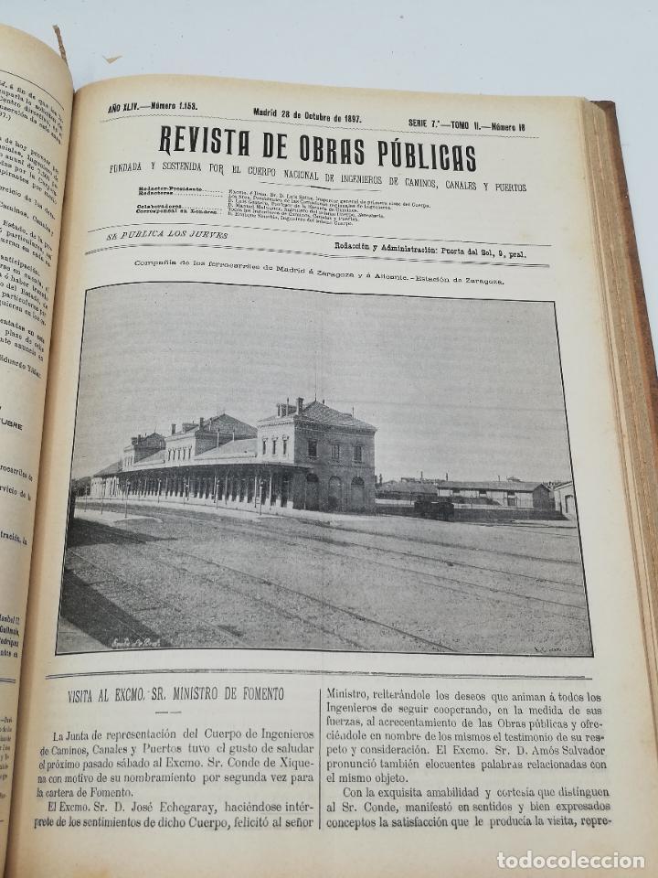 Libros antiguos: REVISTA DE OBRAS PUBLICAS. AÑO XLIV SERIE 7ª PRIMER Y SEGUNDO SEMESTRE. 1897. TOMO I Y II. VER FOTOS - Foto 60 - 275203048