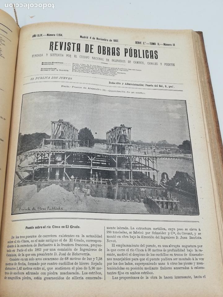 Libros antiguos: REVISTA DE OBRAS PUBLICAS. AÑO XLIV SERIE 7ª PRIMER Y SEGUNDO SEMESTRE. 1897. TOMO I Y II. VER FOTOS - Foto 61 - 275203048
