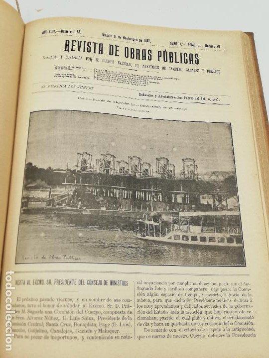 Libros antiguos: REVISTA DE OBRAS PUBLICAS. AÑO XLIV SERIE 7ª PRIMER Y SEGUNDO SEMESTRE. 1897. TOMO I Y II. VER FOTOS - Foto 62 - 275203048