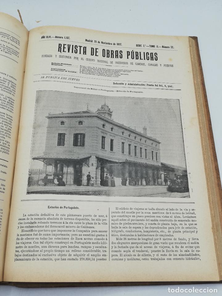 Libros antiguos: REVISTA DE OBRAS PUBLICAS. AÑO XLIV SERIE 7ª PRIMER Y SEGUNDO SEMESTRE. 1897. TOMO I Y II. VER FOTOS - Foto 64 - 275203048