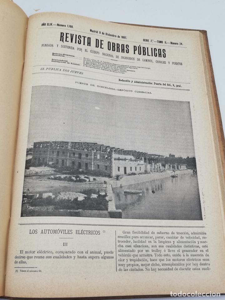 Libros antiguos: REVISTA DE OBRAS PUBLICAS. AÑO XLIV SERIE 7ª PRIMER Y SEGUNDO SEMESTRE. 1897. TOMO I Y II. VER FOTOS - Foto 66 - 275203048