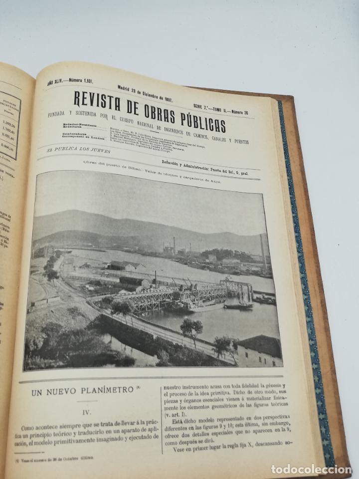 Libros antiguos: REVISTA DE OBRAS PUBLICAS. AÑO XLIV SERIE 7ª PRIMER Y SEGUNDO SEMESTRE. 1897. TOMO I Y II. VER FOTOS - Foto 70 - 275203048