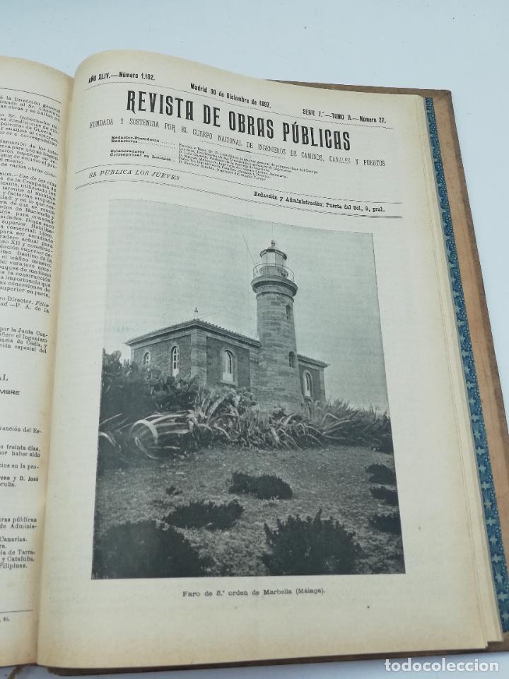 Libros antiguos: REVISTA DE OBRAS PUBLICAS. AÑO XLIV SERIE 7ª PRIMER Y SEGUNDO SEMESTRE. 1897. TOMO I Y II. VER FOTOS - Foto 71 - 275203048